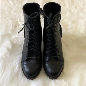 Report Shoes - Report Lace Up Heel Combat Boot